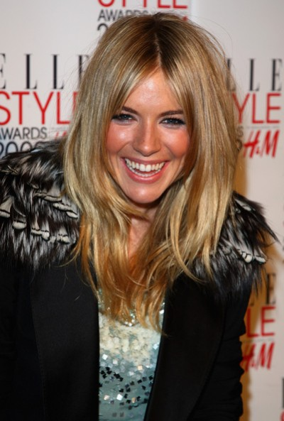 Sienna Miller Medium Length Layered Hairstyles