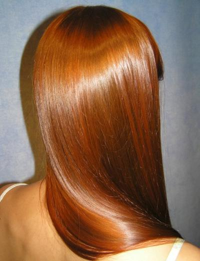 hair straight silky and shiny