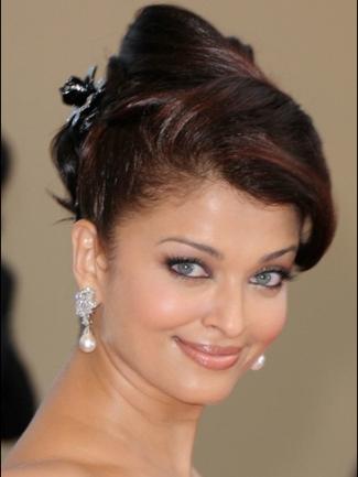 Aishwarya Rai updo hairstyle