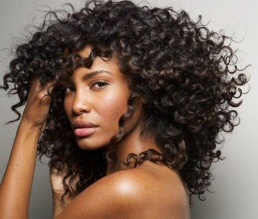 Black hair curly