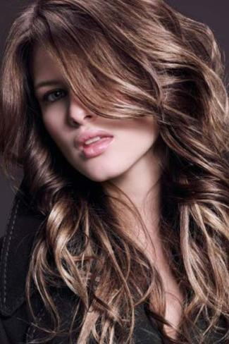 Glamorous hair highlights