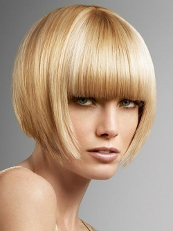 Hairstyles with blunt bangs 02