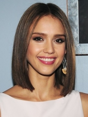Jessica Alba medium length hairstyles