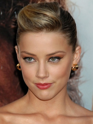 amber heard updo hair