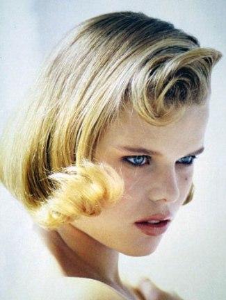 blonde quiff