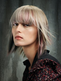 Blonde layers for medium hair