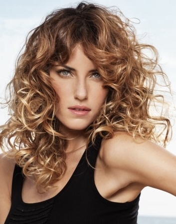 Brown hair with blonde highlights curly trendy hairstyles in the usa brown hair with blonde highlights curly pmusecretfo Image collections