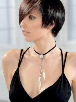 Long bangs short hairstyles 2015