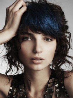 blue shade hair