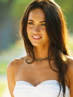 megan fox long ayered hairstyle