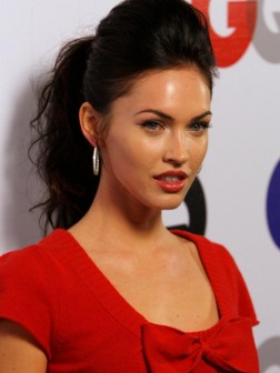 megan fox updo hairstyle