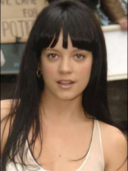 lily allen hair with bang