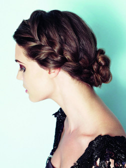 Braid Bun Hairstyle 2014