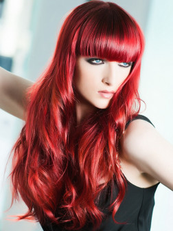 hairstyle with red hair color
