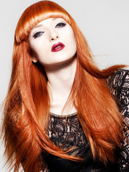 red hair color for long hairstyles
